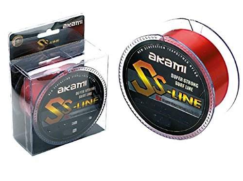AKAMI SS LINE SUPER STRONG SURF LINE LENZA 0.22MM 300MT RED 6.20kg - 13.70lbs