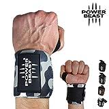 Power Beast Muñequeras Crossfit   Wrist Wraps Elásticas para Pesas, Gym, Fitness, Calistenia,...