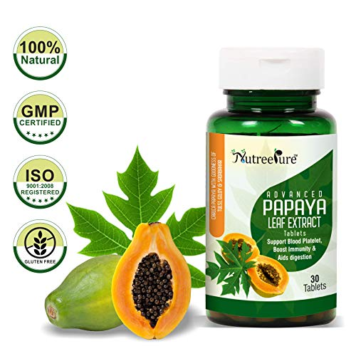 Nutree Pure Advanced Papaya Leaf Extract with Goodness of Tulsi & Giloy (1100mg) - 30 Tablets