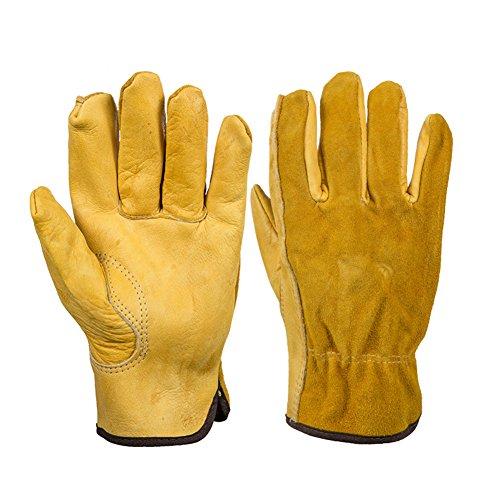 GeKLok Heavy Duty guanti da giardinaggio per uomini e donne, 2paia di spine prova guanti in pelle,...
