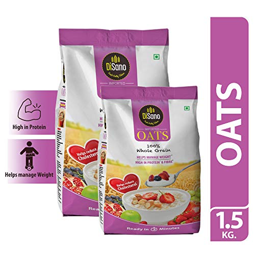DiSano Oats with High in Protein and Fibre Pouch, 1.5 kg