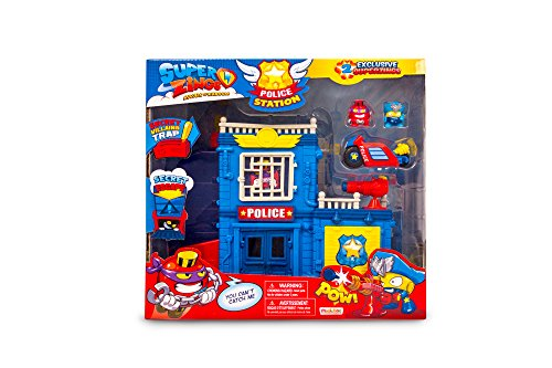 MAGICBOX Magic Box MBXPSZPP112IN00Superzings rivali di Kaboom Police Station Playset, Multicolore
