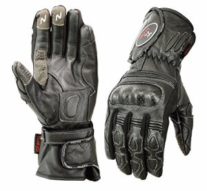 Islero professionelle Motorrad- und Moped-Handschuhe aus Leder, wind- und wasserdicht, Knöchel aus Carbonfaser, Rennsport 15