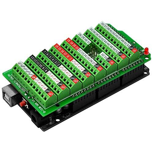 electronics-salon Screw terminal block Breakout modulo, per Arduino mega-2560R3.