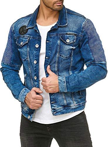 Red Bridge Herren Jeansjacke Biker Style Jeans Jacket Blue Denim Jacke...