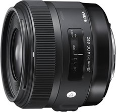Sigma 30 mm/F 1,4 DC/HSM - Objetivo para Canon (distancia focal fija 45mm, apertura f/1,4-16), negro
