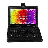 ACEPAD A121 (10.1') 3G Tablet PC, 2GB RAM, 64GB Speicher, Dual-SIM, Android 7.0, IPS HD 1280x800, Quad Core CPU, WIFI/WLAN/Bluetooth, USB/SD (Alu-Schwarz mit Tastaturtasche)