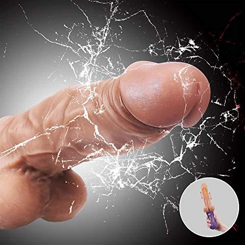Aivrobta Realistische Dildos Silikon Vibratoren für Sie Stoßfunktion Heizung Erotik Sexspielzeug für Frauen Automatischer Klitoris G punkt mit 10 Vibrationsmodi Wasserdicht USB