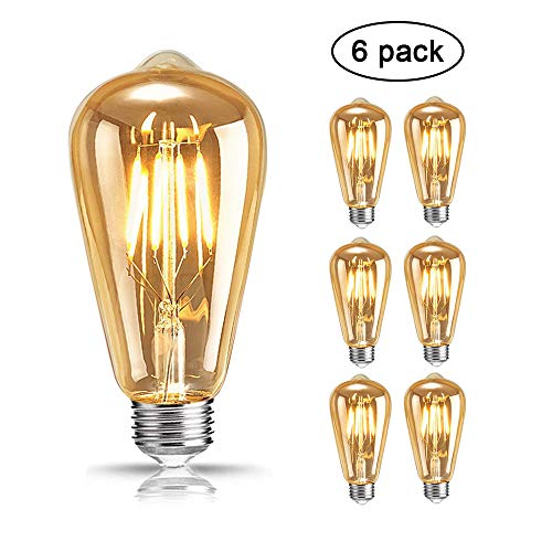 Lampadina Vintage Edison, Mixigoo Edison LED Vintage Lampadina E27 4W ST64 Retro Stile Lampada...