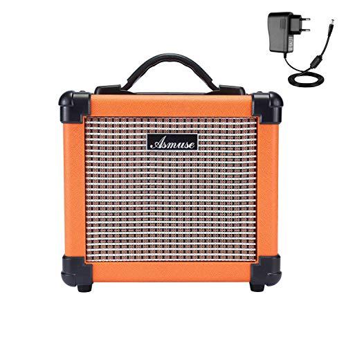 Asmuse Amplificatore Chitarra Elettrica Portatile da 10W Ampli Combo con Effetto di Distorsione 2...