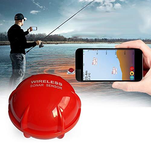 QYLT Rilevatore Intelligente Bluetooth per la Pesca, Wireless Smart Fishfinder, Fish Finder Sonar Sensor Pesca, Ecoscandaglio Portatile per Smartphone