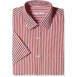 Auburn Hill Men's Formal Shirt (8907002781970_254733571_39_Red)