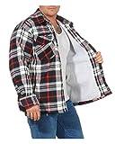 Veste Thermique pour Homme avec Doublure Polaire en Fourrure Peluche à Carreaux Veste Lumberjack Veste de Travail Veste en Flanelle à Carreaux doublée Chaude