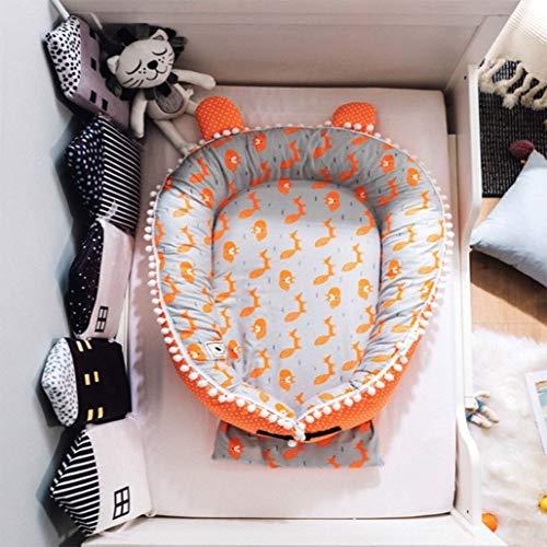 Wan-b Lettino Presepe Portatile Lettino per Neonato Presepe uterino in Cotone Rimovibile Presepe Protettiva,Color1,100x80cm