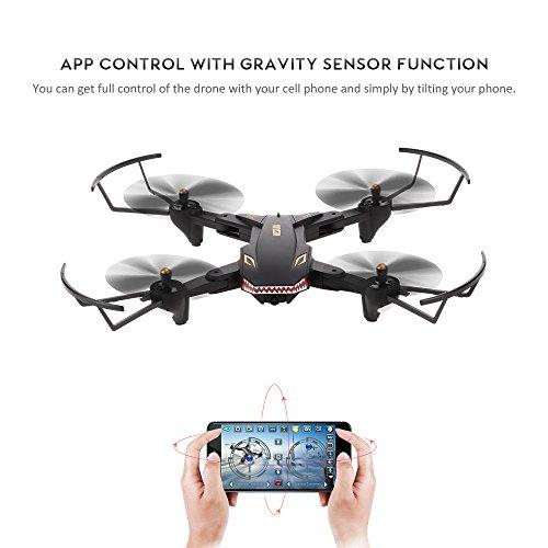 Goolsky VISUO XS809S Drone 2.0MP Grand Angle Caméra Wifi FPV Pliable Drone Une Clé Retour Altitude Maintenir G-capteur Quadcopter avec Une B... 8