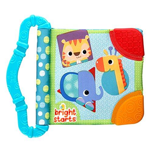 Bright Starts Teethe and Read - Libro per bambini con dentaruolo, Colori assortiti