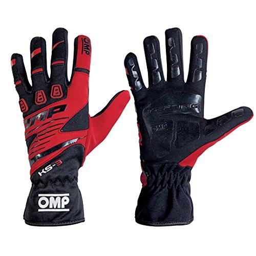 OMP ompkk02743e060l KS-3Guanti my2018Nero/Rosso SZ L