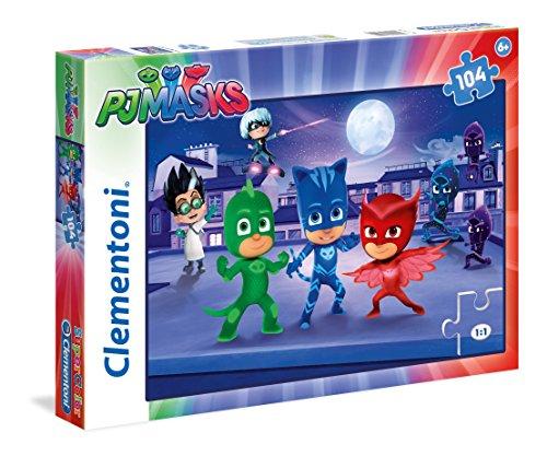 Clementoni 27209 -Puzzle 3 PJ Masks, 104 Pezzi