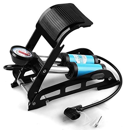 Swabs® Aluminium PortableBike Foot Pump with Accurate Gauge & Smart Valve Head, 160 PSI Aluminum Body High Pressure Foot Air Floor Pump   - Multi Color