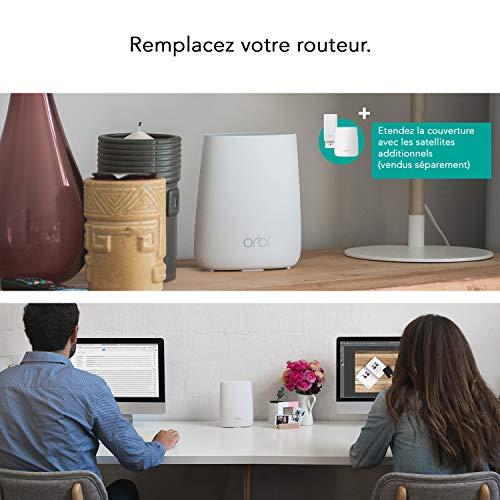 51vUEM-FH-L [Bon Netgear Orbi !  NETGEAR Orbi RBR20 Mesh WLAN Router (Routeur Maillé Tri-Bande pour une Couverture jusqu'à 125 m², Vitesse de 2200 M...