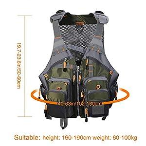 Pellor Chaleco de Pesca, Multi-Bolsillo Transpirable Malla para Fotografía de Caza al Aire Libre de Acampada (Tamaño Ajustable)