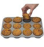 BackeFix - Silikon Muffinblech 12er antihaftend ohne Fett und Papier backen - ★ einfach zufrieden sein ★ beliebteste Silikon 12 Muffinform - Premium Muffin-Backform - ideal für Cupcakes sowie Muffins