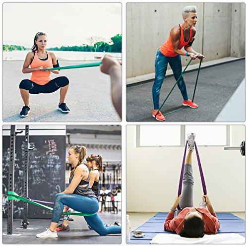 Bande Elastique Fitness, SGODDE Bande de Resistance Set(4) en Latex, Équipement d'Exercices pour Musculation Pilates Squat Sport Rééducation... 24