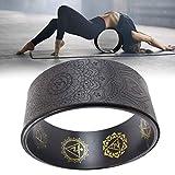 Rueda de yoga: la rueda de apoyo de yoga Dharma más fuerte y cómoda para posturas de yoga para estirar, aumentar la flexibilidad y mejorar las curvas traseras, círculo de yoga de 13 x 5 pulgadas