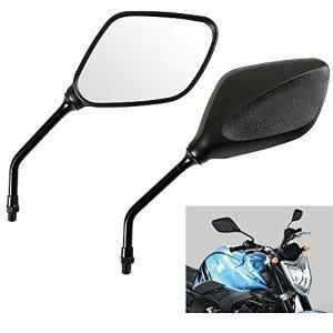 ViZe 8 mm Außenspiegel Universal Motorrad Spiegel hinten Moto für Street Bikes Sport Bikes Racer Scooter (Alle im Uhrzeigersinn) 2