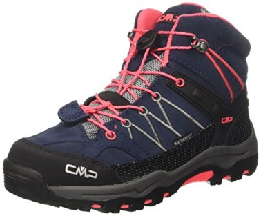 CMP-Unisex-Rigel-Mid-Wp-Trekking-Wanderstiefel-Grau-Antracite-Red-Fluo-95bd-38-EU