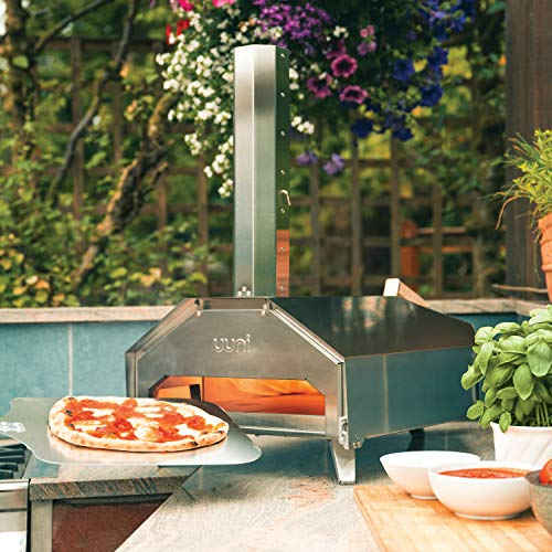 We know the price made you wince a bit but the Uuni Pro Multi-fueled Outdoor Pizza Oven is an investment worth making and is a big upgrade to our 'Best Pick'. The amazing thing about this model is the fact that you can use different kinds of fuel to power it. This is convenient as you will still be able to make pizzas when one fuel type is unavailable. The pizza oven is able to use charcoal, wood pellets, gas or even regular sized wood, gas being the cleanest option and easiest to use as you don't need to top up the hopper up every 20 minutes.