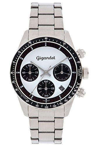 Gigandet Race King Orologio Uomo Cronografo Analogico Quartz Bianco Argento G5-007
