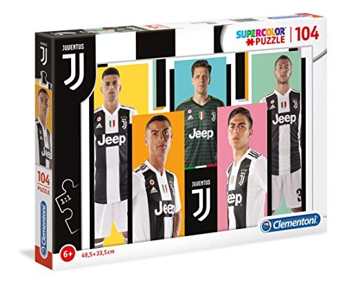 Clementoni Puzzle Juventus-104 Pezzi, Multicolore, 27523