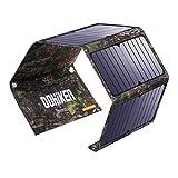 DOHIKER - Solar Ladegerät27W Solar Panel Ladegerät mit 3 USB Ports (5V 4A Max Ausgang für iPhone XS iPad Kindle Lautsprecher faltbares Ladegerät für Aktivitäten im Freien Camping Wandern Reise)