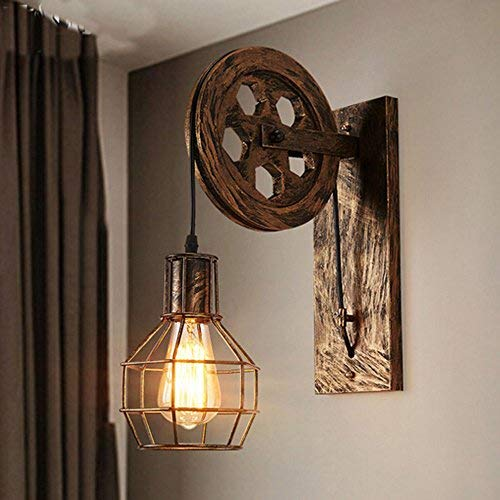 Lampada da parete E27 Vintage Retro parete illuminazione creativo beleutung per scala corridoio Cafe...