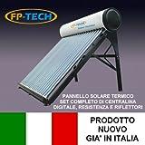 PANNELLO SOLARE TERMICO HEAT PIPE PRESSURIZZATO ACCIAIO INOX ACQUA CALDA SANITARIA (90 Litri - Heat Pipe)