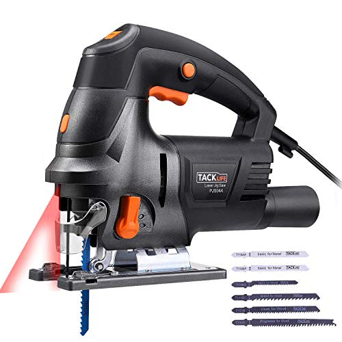 TACKLIFE Seghetto Alternativo per tagliare legno e metallo, 800W, Seghetto da 6,7 A 3000 giri/min,...