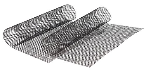 Rosenstein & Söhne Backmatte: 2x Profi-Silikon Dauer-Back- & Grillmatte 42x36cm, antihaft (Netz Back Grillmatten)