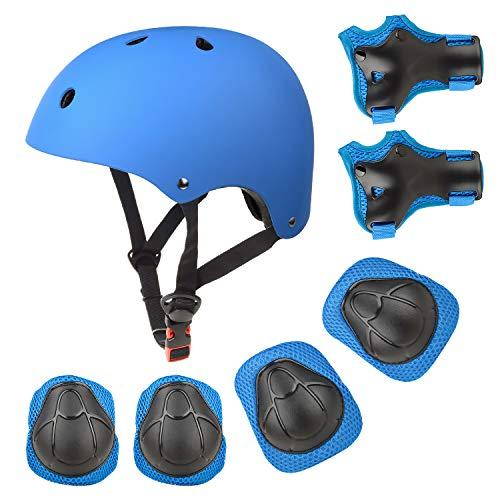 EarthSave Skateboard Casco Protezioni Set per bambini, protezione set Gomitiere polso ginocchiere...