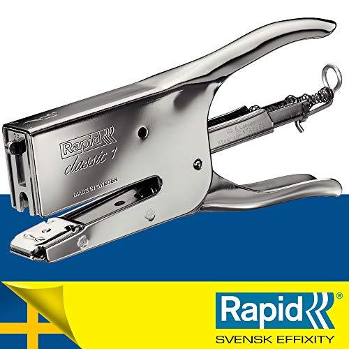 Rapid Cucitrice a pinza Classic K1, Adatta a punti 26/6 e 26/8 mm, Capacità 50 fogli, Metallo,...