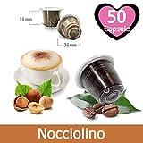 50 Kapseln Nespresso Kaffee Kompatibel Geschmack Haselnuss - Hergestellt in Italien - Kickkick Kaffee