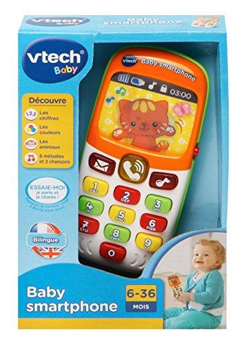 Vtech baby smartphone bilingue liste papa no l jouets for Baby bureau bilingue 2 en 1