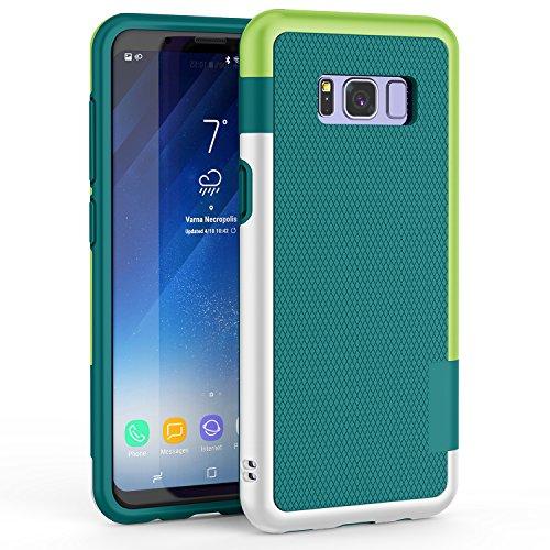 Funda Galaxy S8 Plus, HanLuckyStars TPU Fundas Carcasa para Samsung Galaxy S8 Plus Case Galaxy S8 Plus Funda con [Ultra Fina][Anti-Arañazos][Anti-Choques][Garantía de por vida](Verde)