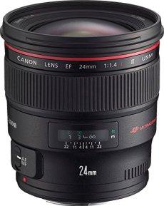 Canon EF 24 mm f/1.4L II USM - Objetivo para Canon (Distancia Focal Fija 24mm, Apertura f/1.4-22, diámetro: 77mm) Negro
