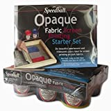 Speedball Art Products Various Opaque Fabric Screen Printing Starter Kit