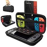 Orzly Etui Rigide en EVA pour Nintendo Switch - Housse Rigide de Rangement Zippée en Matériau Durable Anti-Choc pour la Console Nintendo Switch et Ses Accessoires - Noir