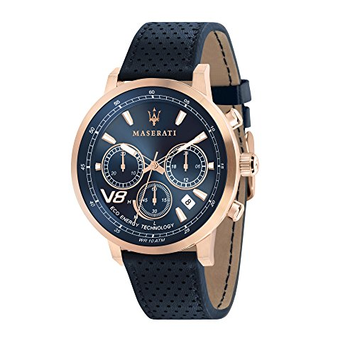 MASERATI Orologio Cronografo Quarzo Uomo con Cinturino in Pelle R8871134003