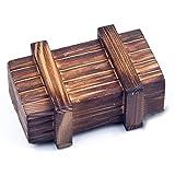 Magische Box für Geldgeschenke, Schmuck, Gutscheine, Hochzeit. MIT GEHEIMFACH - Rätsel-Box aus Echt-Holz. KREATIVE und ORIGINELLE Geschenkidee!