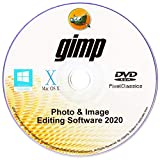 GIMP 2020 Photo Editor Premium Professional Image Editing Software CD for PC Windows 10 8.1 8 7 Vista XP, Mac OS X & Linux - Full Program & No Monthly Subscription!