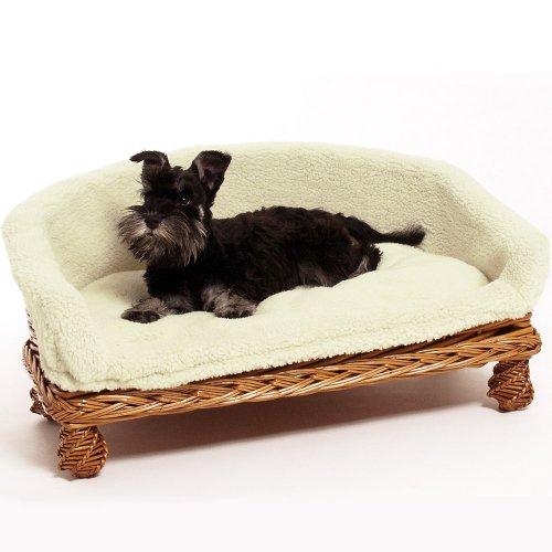 Weidenkorbsofa Weidenkorb Sofa 60 cm Das Hundesofa aus Rattan hat einen waschbaren Kuschel Bezug EIN Hundesofa Nicht nur für Hunde auch Katzen benutzen es gerne